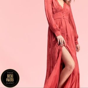 Free People by Timo button front maxi dress